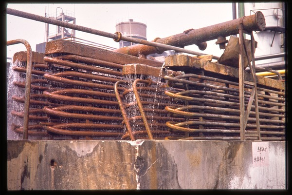 Chiting Co. fertilizer factory: cooling coils, June 1978