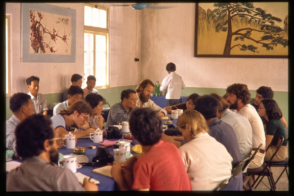 Chiting Co. fertilizer factory or oil processing plant: lunch gathering, June 1978