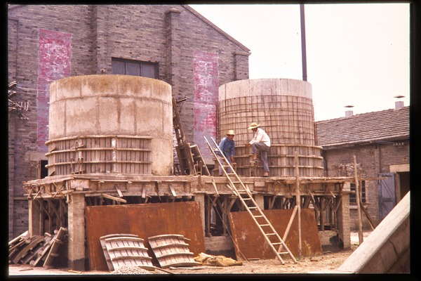 Oil processing plant: outdoor vats, June 1978