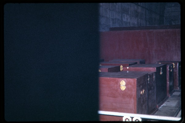 Visit to the Ming Tombs: Ming coffins, June 1978