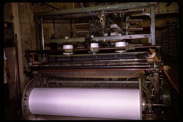 Cotton mill: spinning machine, June 1978