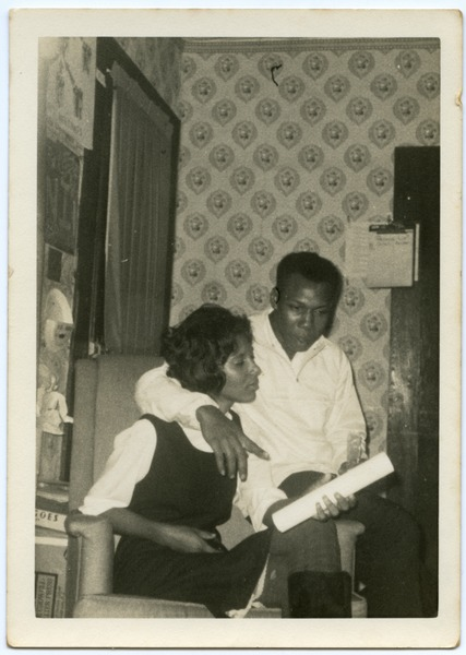 Charleane Hill Cobb and husband (l. to r.), civil rights workers in northern             Mississippi, ca. 1965