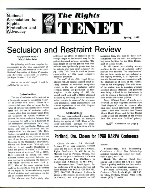 The  Rights Tenet, March 1988–May 1988