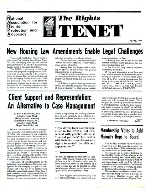 The  Rights Tenet, March 1989–May 1989