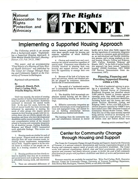 The  Rights Tenet, December 1989