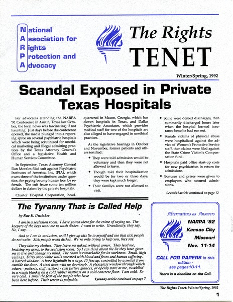The  Rights Tenet, December 1991–May 1992