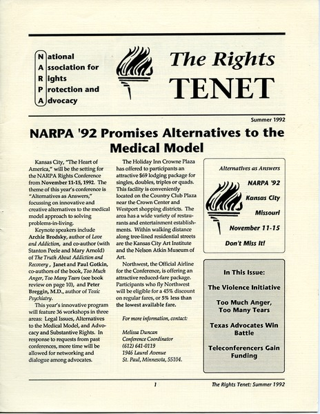 The  Rights Tenet, June 1992–August 1992
