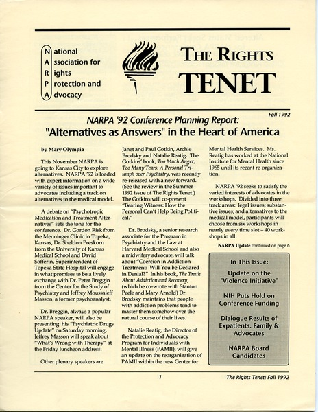 The  Rights Tenet, September 1992–November 1992