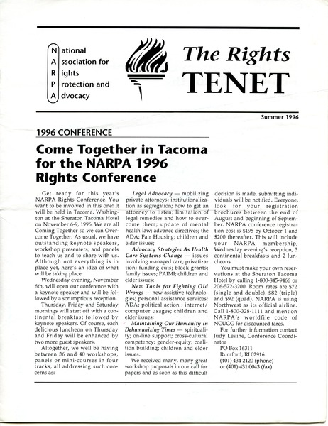 The  Rights Tenet, June 1996–August 1996
