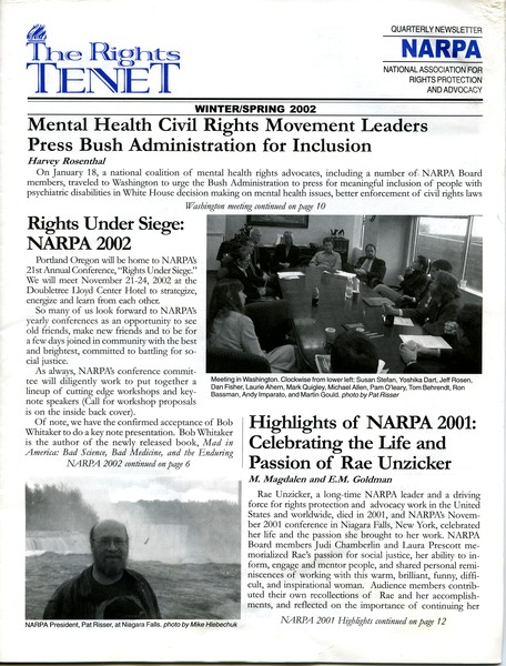 The  Rights Tenet, December 2001–May 2002