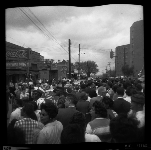 Marchers in the streets of Montgomery, ca. March 25, 1965