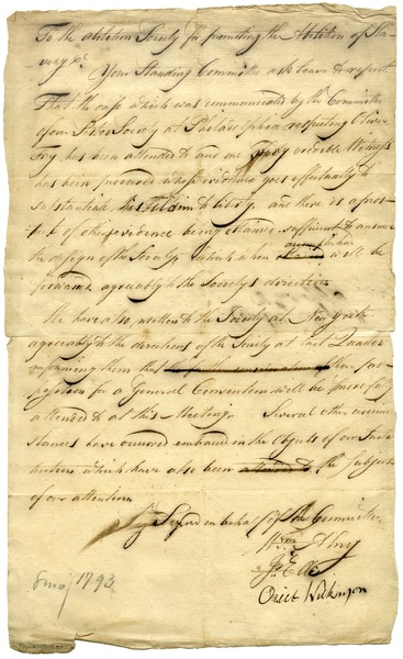 Report of the Standing Committee, August 1793