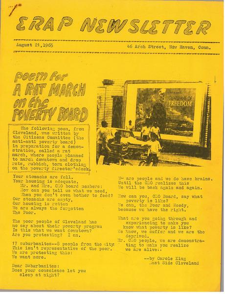 ERAP Newsletter, August 21, 1965