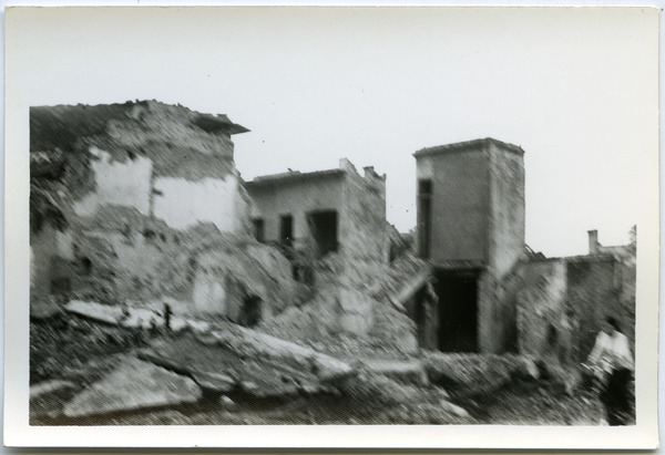 Bombing ruins in Thái Bình City, May 1968