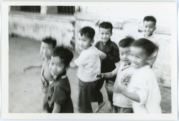 Boys out on the sidewalk, May 1968