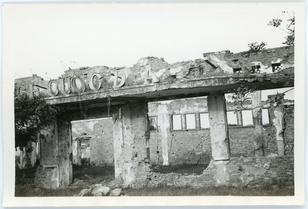 Ruins of bombed building, Thái Bình, May 1968