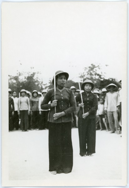 Women in military formation, May 1968