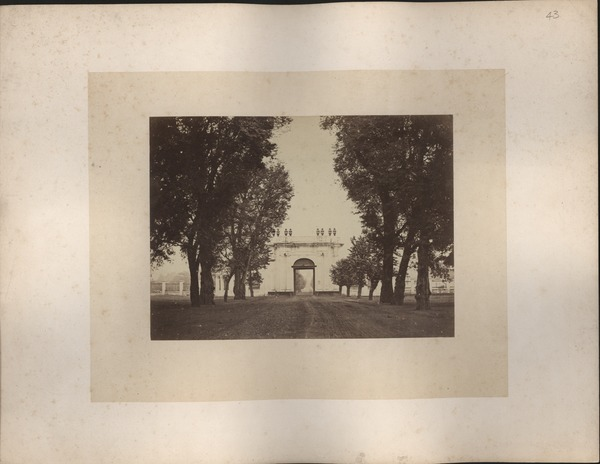 Entrance to the town of Batavia, Java, ca. 1865