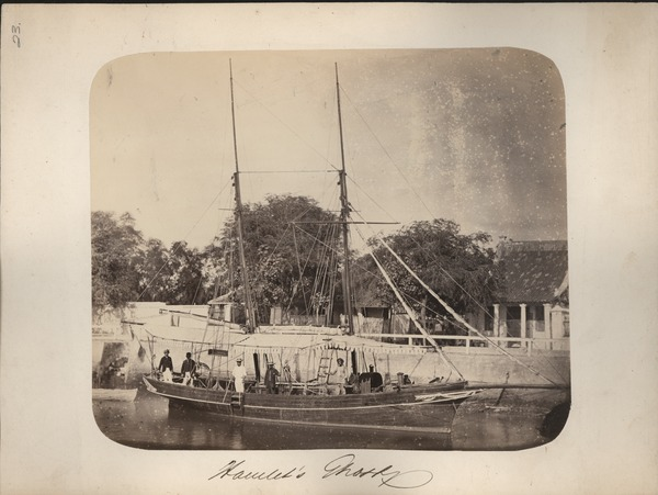 Hamlet's Ghost, Sourabaya [Surabaya], Java [Boat with Passengers and Crew], ca. 1865