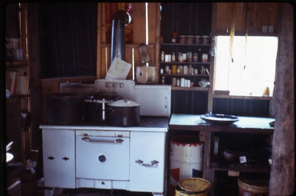 Kitchen in house at Johnson Pasture Commune, August 1969