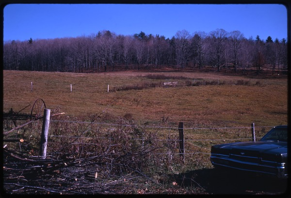 Field in back of house, Montague Farm Commune, November 1970