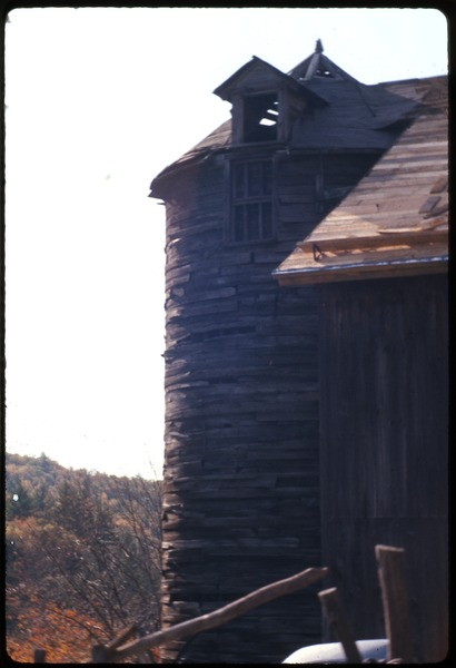 Silo and barn, Montague Farm Commune, October 1976