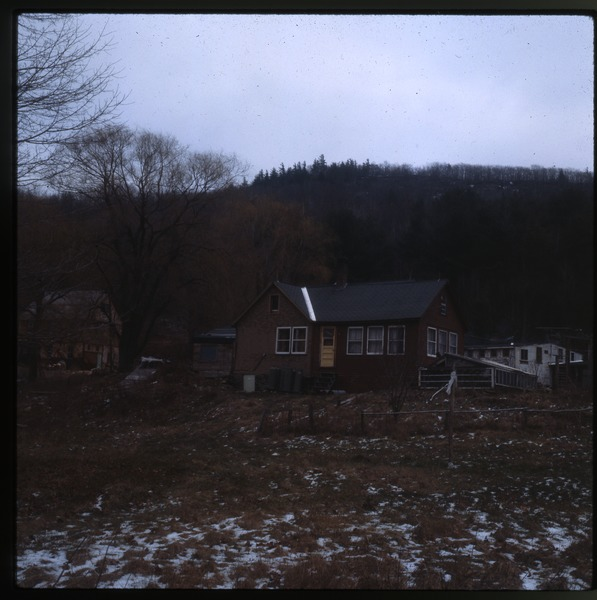 House in the snow, Wendell Farm, December 1979