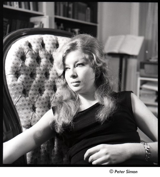 Joanna Simon: half-length portrait in a chair, February 3, 1962