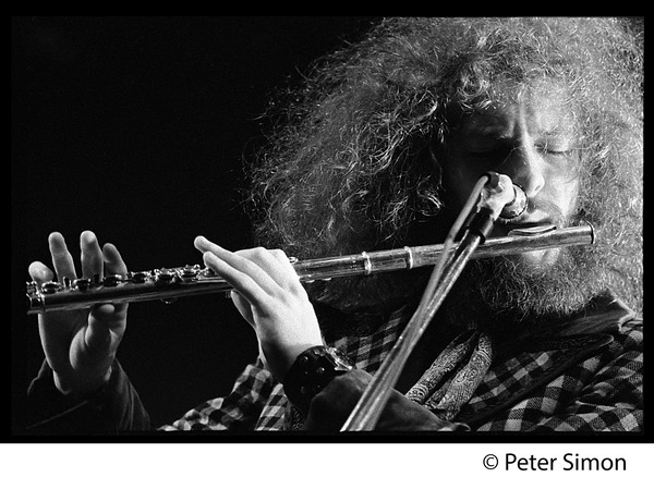 Ian Anderson (Jethro Tull) in performance, Newport Jazz Festival, July 4, 1969