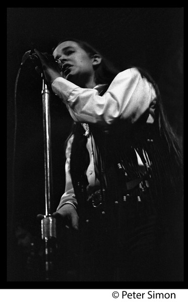 Tracy Nelson (Mother Earth) on stage at the Boston Tea Party, January 18, 1969