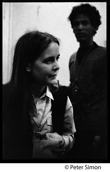 Tracy Nelson (Mother Earth), back stage at the Boston Tea Party, January 18, 1969