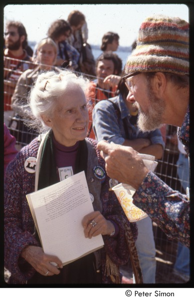 MUSE concert and rally: Pete Seeger and Maggie Kuhn at the No Nukes rally, September 23, 1979