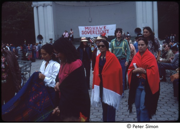 MUSE concert and rally: Native American demonstrators at Mohawk sovereignty rally, September 23, 1979