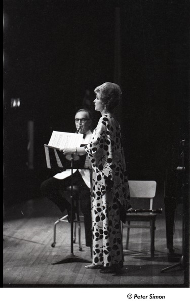 Joanna Simon performing with Benny Goodman, June 28, 1966