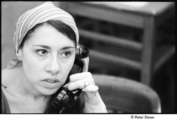 National Student Association Congress: unidentified woman on the phone, August 1967