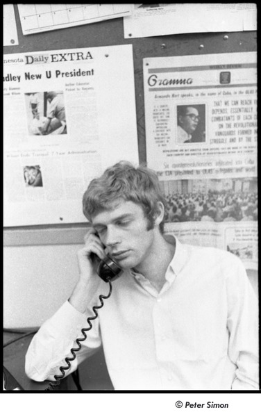 United States Student Press Association Congress: David Silver on the phone, August 1967