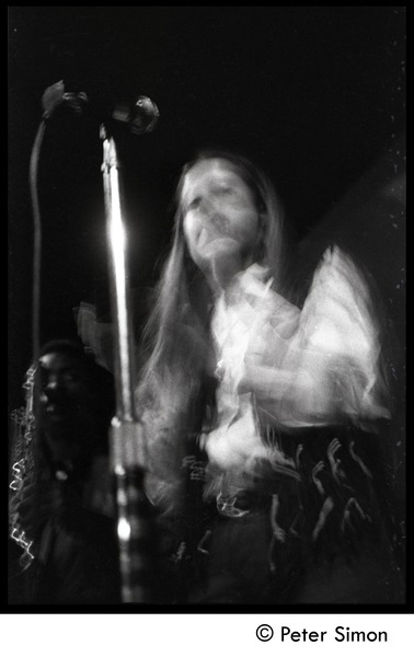 Tracy Nelson (Mother Earth) on stage in performance at the Boston Tea Party, January 18, 1969