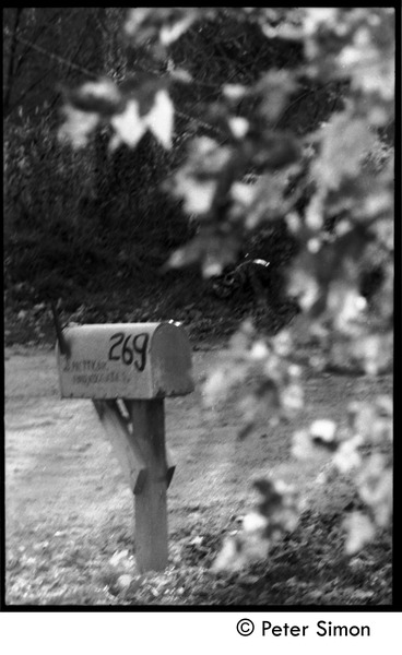 Mailbox, Montague Farm Commune, 1970