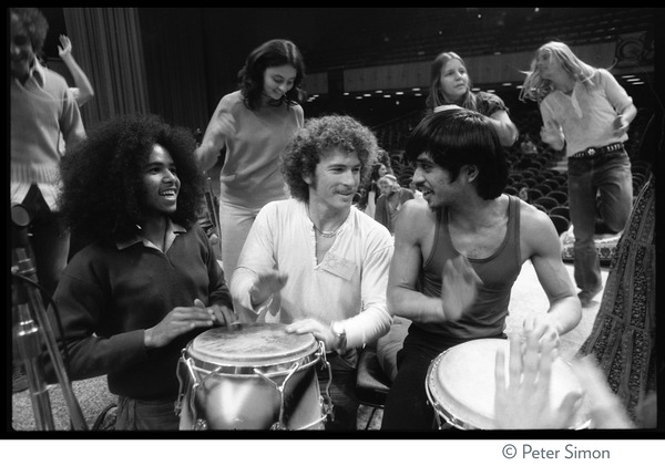 Percussionists at the Kohoutek Festival of Consciousness, ca. January 27, 1974