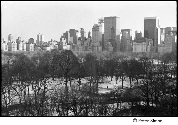 Central Park in winter, ca. 1967