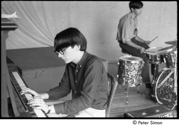 Piano player and drummer of 'Lust for 5', ca. 1967