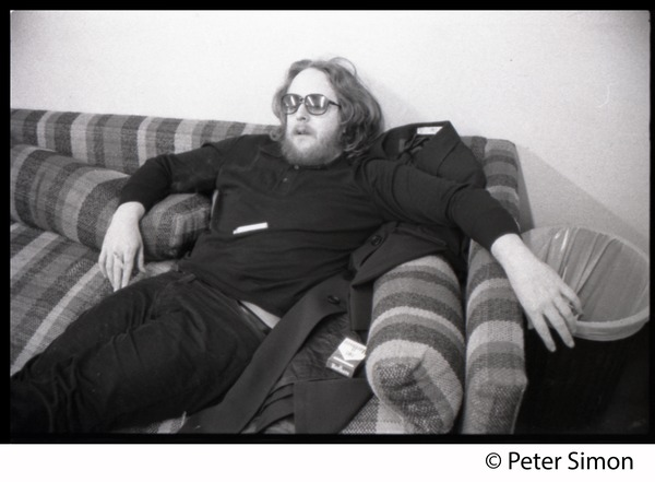 Grateful Dead in the studio (Automated Sound): Keith Godchaux crashed out on a couch: , ca. 1977