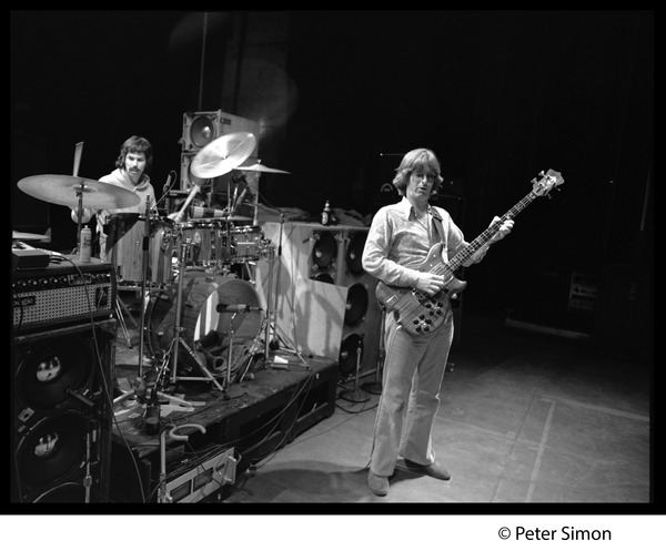 Grateful Dead in performance: Mickey Hart (drums) and Phil Lesh (bass), ca. 1977