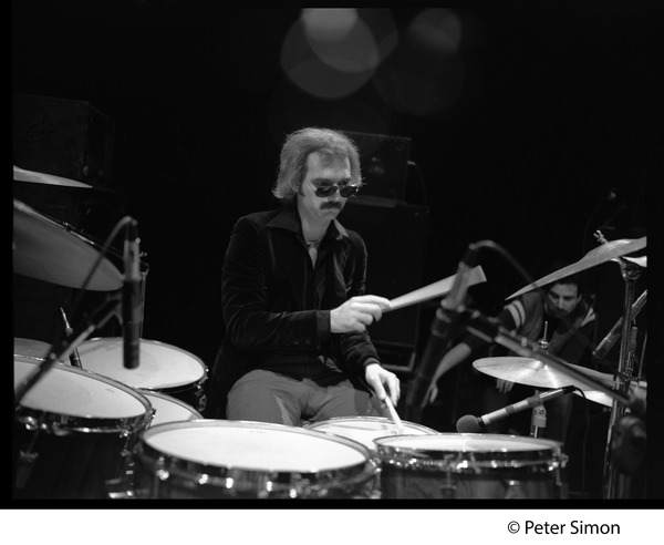 Grateful Dead in performance: Bill Kreutzman (drums), ca. 1977