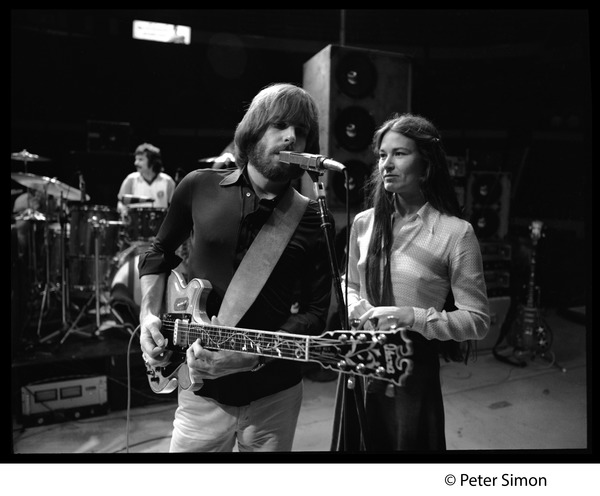 Grateful Dead rehearsing: Bob Weir singing, with Donna Godchaux, ca. 1977