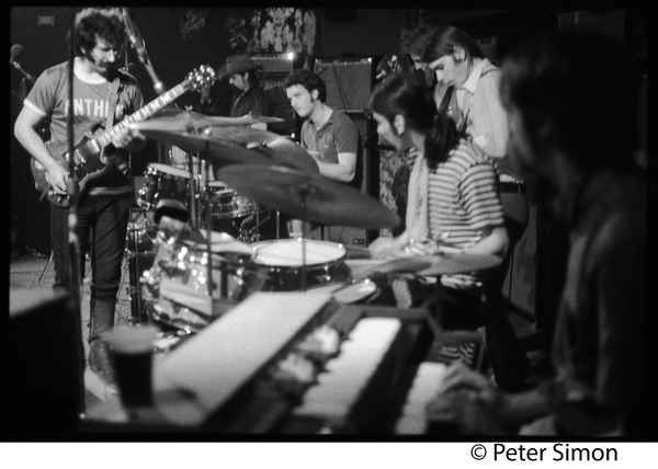 Grateful Dead performing at the Ark: L. to r.: Jerry Garcia (guitar), Pigpen McKernan (keyboards), Bill Kreuzman (drums),