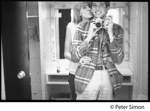 Peter Simon: self-portrait in a mirror with Karen Helberg, ca. 1966