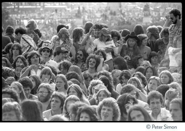 View of the audience at the No Nukes concert and protest, May 6, 1979