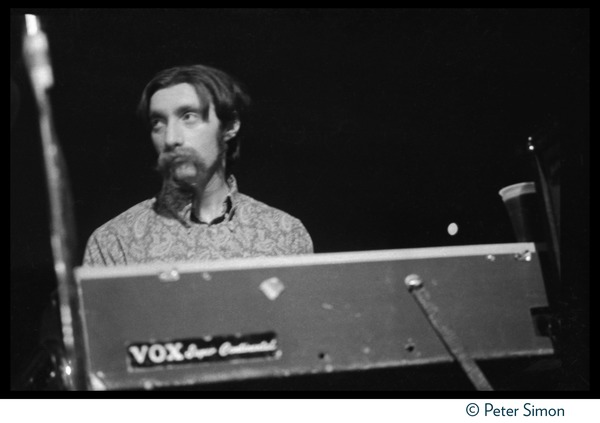 Tom Constanten (Grateful Dead) playing keyboards in concert at the Ark, April 21, 1969