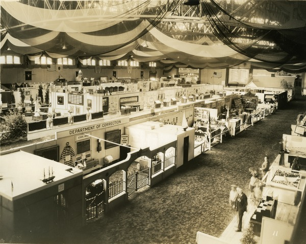 Department of Correction exhibit booth, 1930